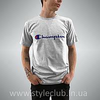 Champion Футболка мужская • Бирка оригинальная • чёрная качественная реплика