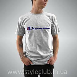 Champion Футболка мужская • Бирка оригинальная • чёрная