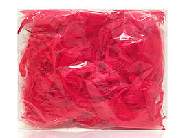 Перья для декора натуральные, красные , 12 грамм