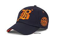 Бейсболка LB цвет синий с оранжевым