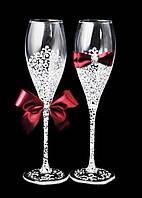Свадебные бокалы Je t'aime