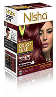 Безаммиачная стойкая крем-краска для волос TM Nisha с маслом авокадо Бургунди №3,16