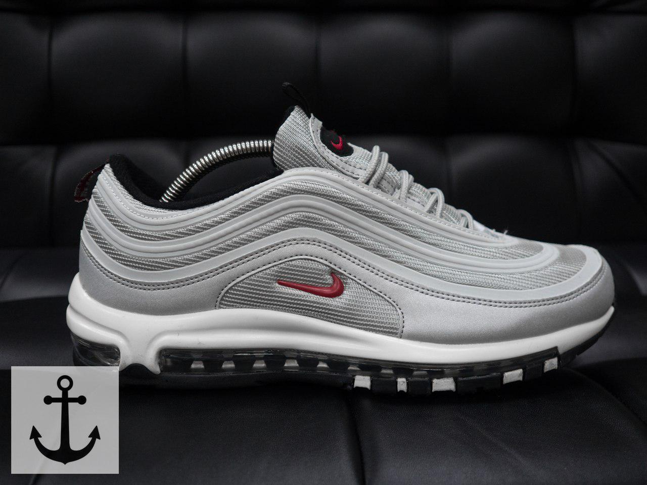 Мужские кроссовки Nike Air Max 97 (в стиле Найк Аир Макс) серые -  Мультибрендовый fa7d61b5bd0