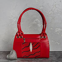 Сумка зі шкіри ската Ekzotic leather Червона (sb02)