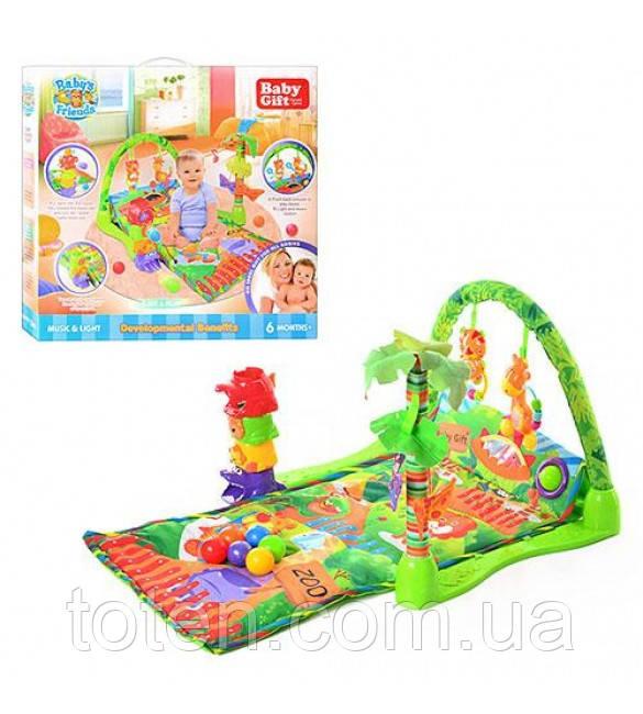 Развивающий коврик для детей с рождения Baby Gift 3159