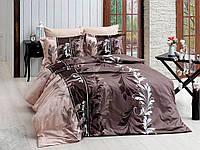 Евро комплект постельного белья R7085 brown