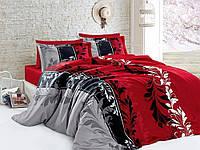 Семейный комплект постельного белья R7085 red
