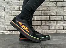 Женские кеды Vans Old Skool Black Flame Fire. ТОП Реплика ААА класса., фото 2