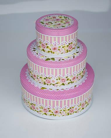 Комплект тубусов Роза розовый, 3шт, фото 2