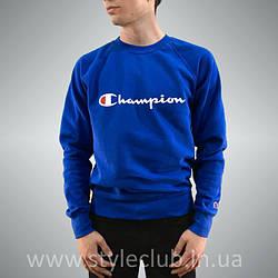Champion свитшот синий • Женский и мужской • Бирки и Живые фотки