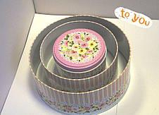 Комплект тубусов Роза розовый, 3шт, фото 3