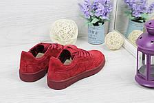 Женские замшевые кроссовки Reebok Naked,бордовые, фото 3