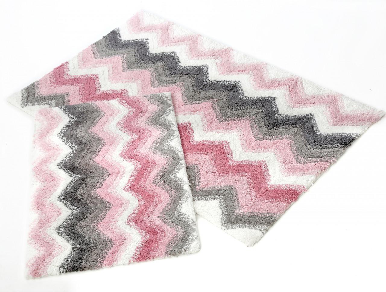 Набор ковриков для ванной Irya 40х60+60х90 Leron розовый