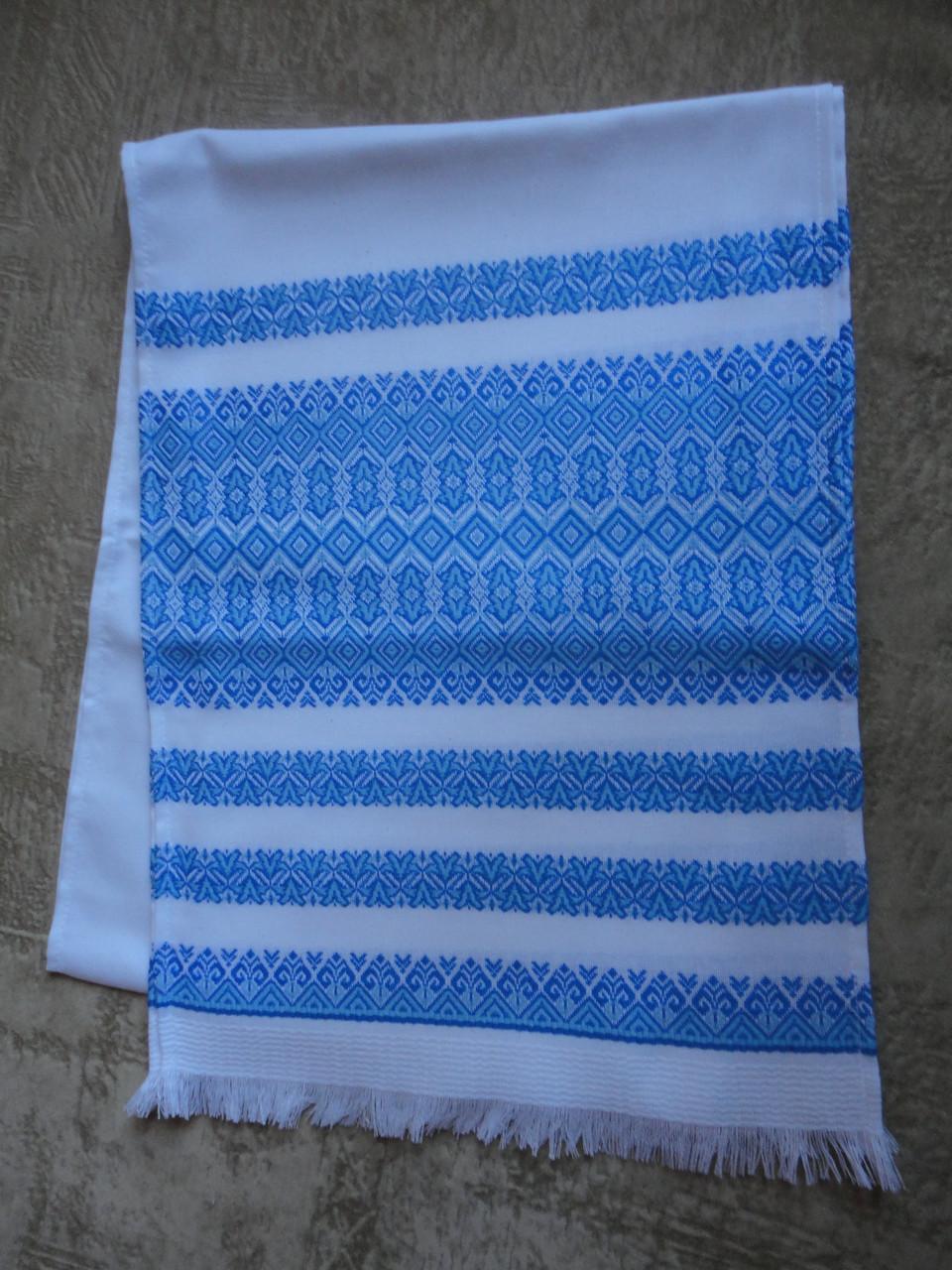 Тканый свадебный рушник «Аншлаг голубой»