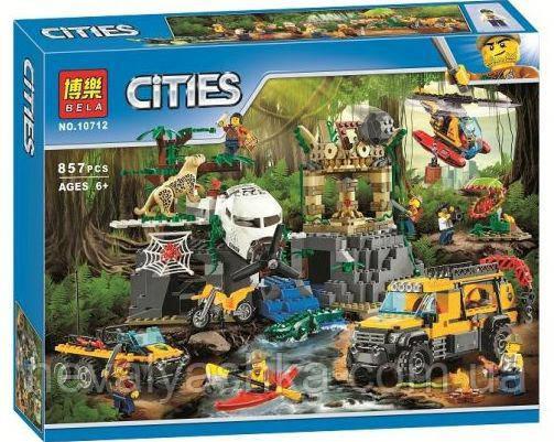 Конструктор BELA Cities База Исследователей Джунглей, 857 дет., 10712 (Lego 60161), 006958