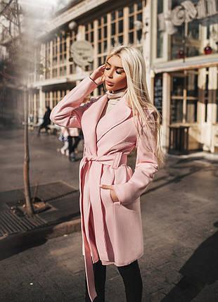 """Женское кашемировое пальто на запах """"RIKON"""" с карманами (4 цвета), фото 2"""
