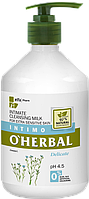 O'Herbal Intimate Cleansing milk Delicate for extra sensitive skin with flax extract 500ml