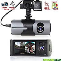 Видеорегистратор Car DVR R300 с модулем GPS, двумя камерами и G-сенсором удара