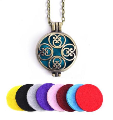 Аромамедальон с цветочным узором бронзового цвета для аромамасел и любимых духов