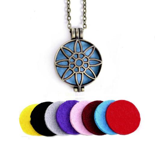 Аромамедальон с цветочным узором бронзового цвета для аромамасел и любимых духов астра