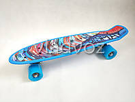 Детский скейт скейтборд пенни синий Profi MS