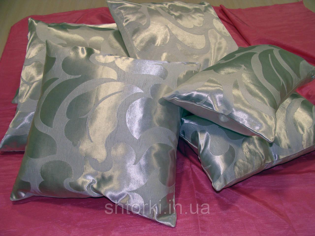 Комплект подушек молочные Завитки крупные 6шт