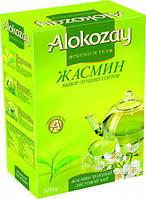 Чай зеленый с жасмином листовой Alokozay 100 г