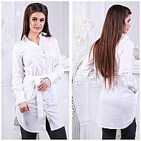 Женское платье-рубашка однотонное, фото 1