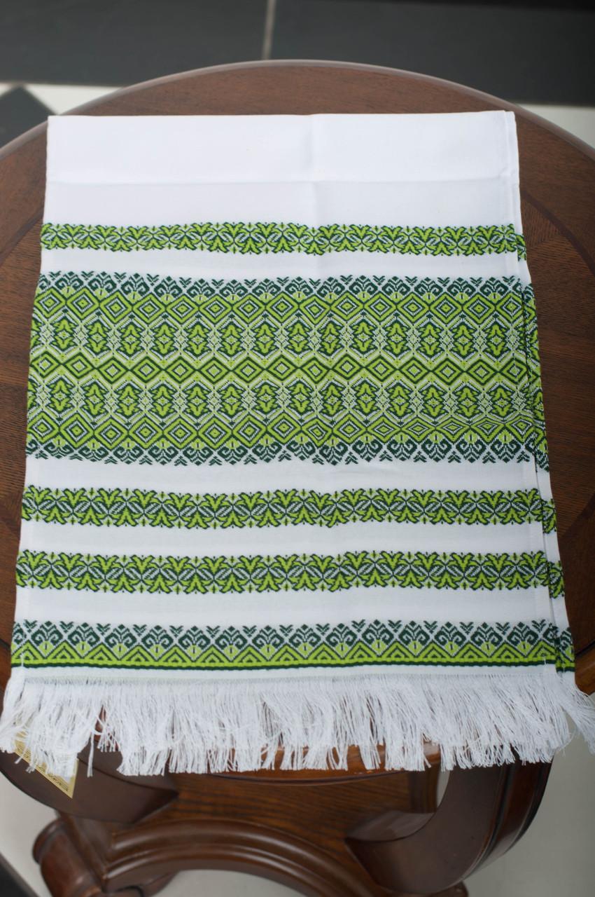 Тканый свадебный рушник «Зеленый»