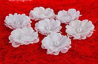 Цвет яблони с серединкой-бусинкой 10 шт.