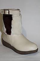 Кожаные сапожки. Зимняя обувь оптом (33-38)