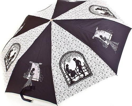 Оригинальный женский зонт полуавтомат ZEST (ЗЕСТ) Z53626B-9 Антиветер!