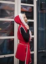 """Теплый женский жилет на овчине """"DUBLIN"""" с капюшоном (3 цвета), фото 2"""