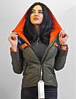 Демісезонні Фабричні Жіночі Куртки з капюшоном. Утеплювач Биопух, фото 6
