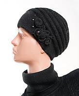 Шапка женская вязанная, шерсть-ангора