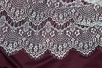 Ткань гипюр реснички белые, фото 1