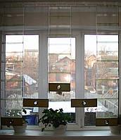 Комплект панельных шторок салатовые полоски, 1,30м