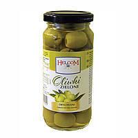 Оливки зеленые без косточки Helcom, 345гр Польша
