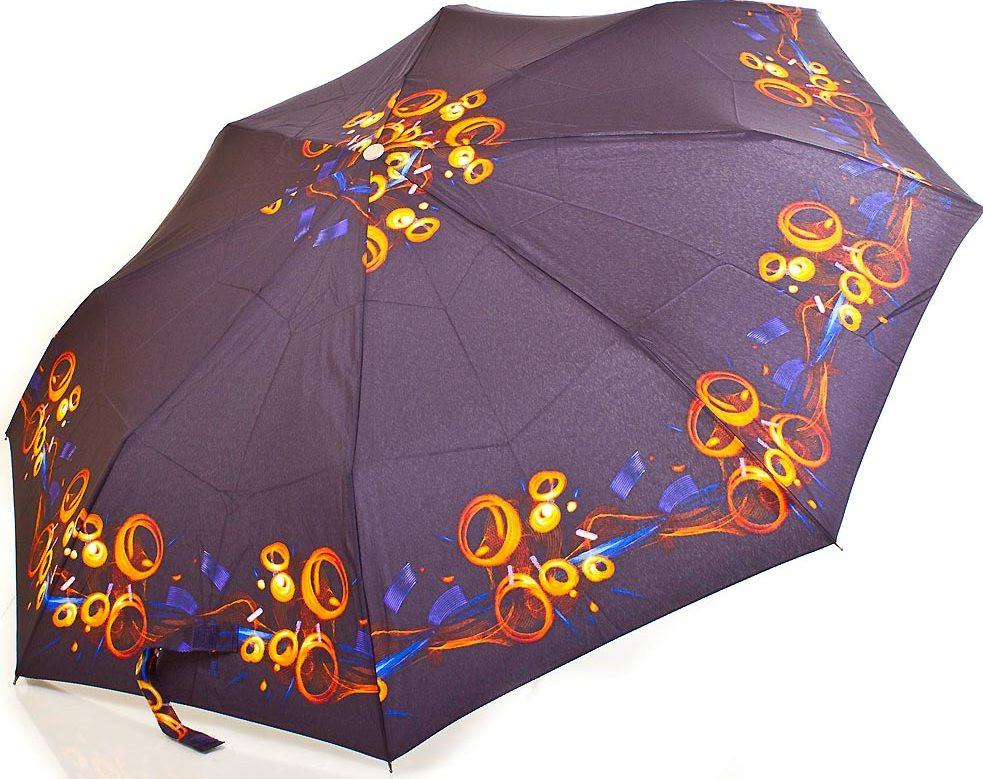 Полуавтоматический женский зонт ZEST (ЗЕСТ) Z53626B-10 Антиветер