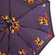 Полуавтоматический женский зонт ZEST (ЗЕСТ) Z53626B-10 Антиветер, фото 3