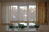 Комплект панельных шторок парча золото, 2,5м