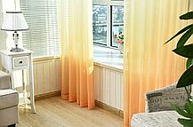 Готовая тюль-вуаль Дэграде Оранж, фото 2