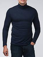 Мужская водолазка-гольф (воротник с отворотом) | трикотаж на байке, размеры: 44-56 | джинсовый цвет