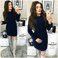 Новинка! Пальто кашемир женское, модель  808,  темно синий, фото 1