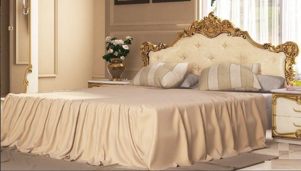 Ліжко з ДСП/МДФ в спальню Вікторія 1,6х2,0 з каркасом Миро-Марк
