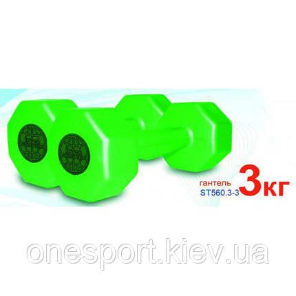 Гантели Interatletika 2х3 кг для фитнеса (код 111-2143), фото 2