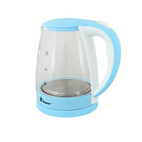 Электрочайник с подсветкой на 2,2 литра DOMOTEC MS-8214 элекстрический чайник стеклянный