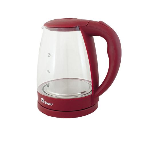 Электрочайник с подсветкой на 2,2 литра DOMOTEC MS-8213 Purple элекстрический чайник стеклянный