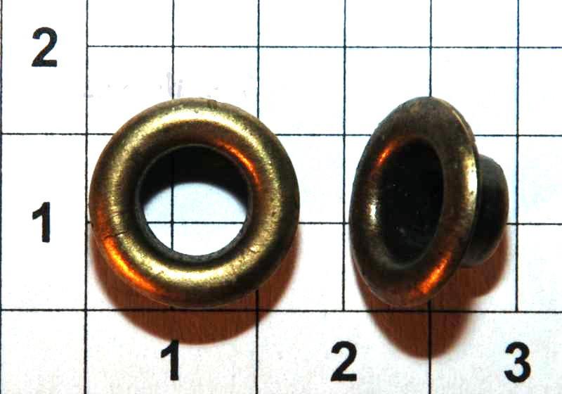 Люверс блочка №4 -6 мм с шайбой 100 шт в упаковке