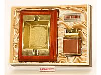 PN3621 Сувенирный набор: Пепельница + настольная зажигалка, Подарочный наборы для мужчин, Сувенир, Презент